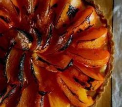 Persimmon pie - a vibrant winter treat