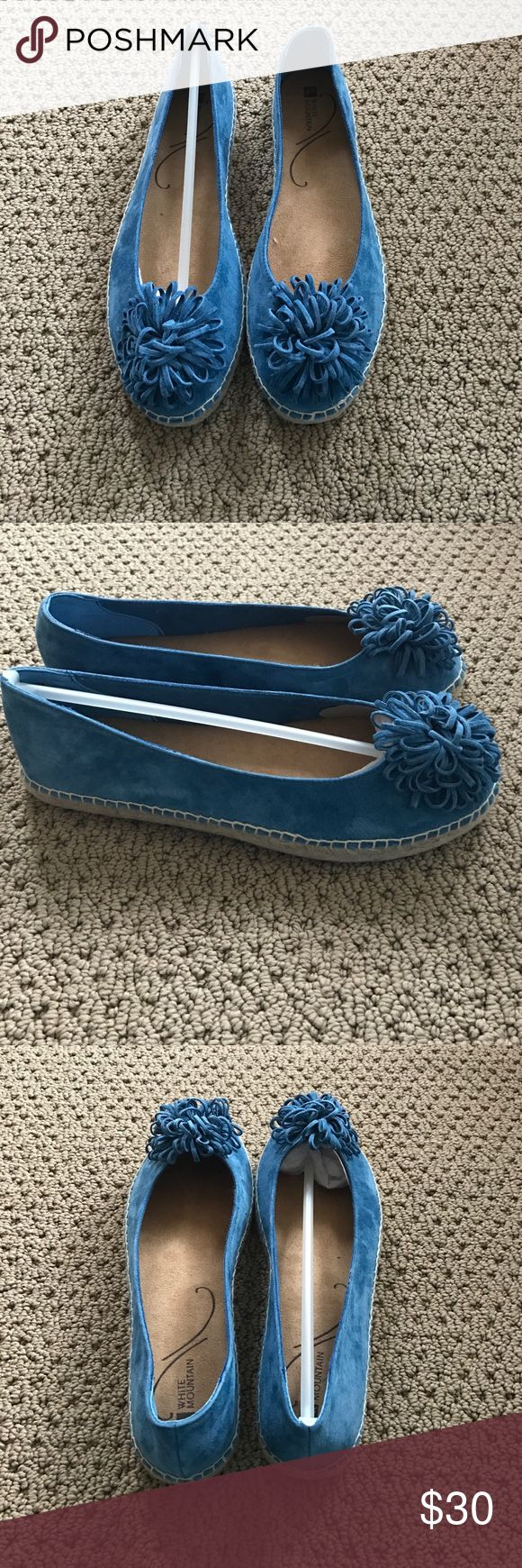 White mountain espadrilles shoes never worn Light blue espadrilles with flower white mountain Shoes Espadrilles