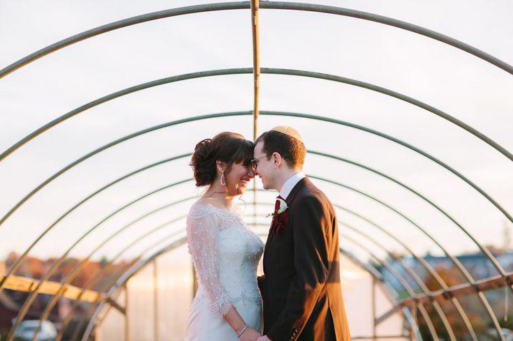 all autumn wedding at barn at gibbet hill wedding