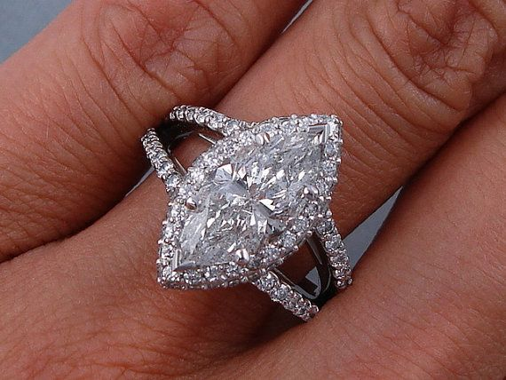 Exquisite 2.94 ctw Marquise Cut Diamond by BigDiamondsUSAcom