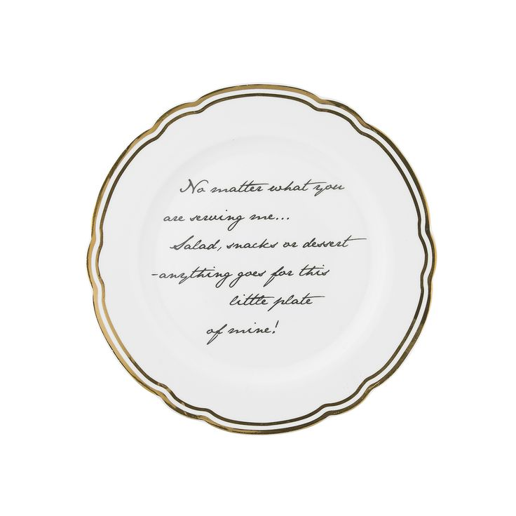 Cake plate with writing. Get it at Molly Marais. Molly Marais.