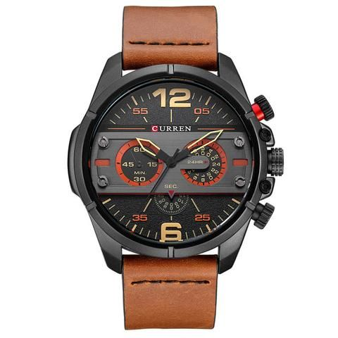 CURREN Watches Men Luxury Brand Army Military Watch Leather Sports Watches Quartz Men Waterproof Wristwatches Male Clock  Black Men's Watch Affordable Cheap Fashion Products Website