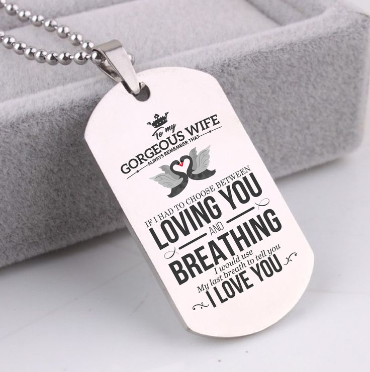 TO MY WIFE I WISH I COULD TURN BACK THE CLOCK I'D FIND YOU SOONER AND LOVE YOU LONGER - DOG TAG NECKLACE GIFT FROM HUSBAND Wife gift ideas, wife gifts, wife Christmas gifts, wife valentines gift, wife anniversary gift, wife birthday gift ideas, wife dog tag, wife dog tag from husband, wife dog tag necklace, wife necklace #wife #husband #valentines