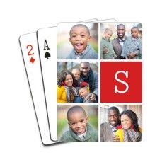 Design custom playing cards with your favorite photos. This poker-size deck of cards comes with 52 cards, 2 jokers, and a hard case. Our personalized deck of photo playing cards makes a great gift