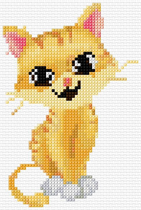 designer jewelry stores Cross Stitch Cat xstitch Chart Design