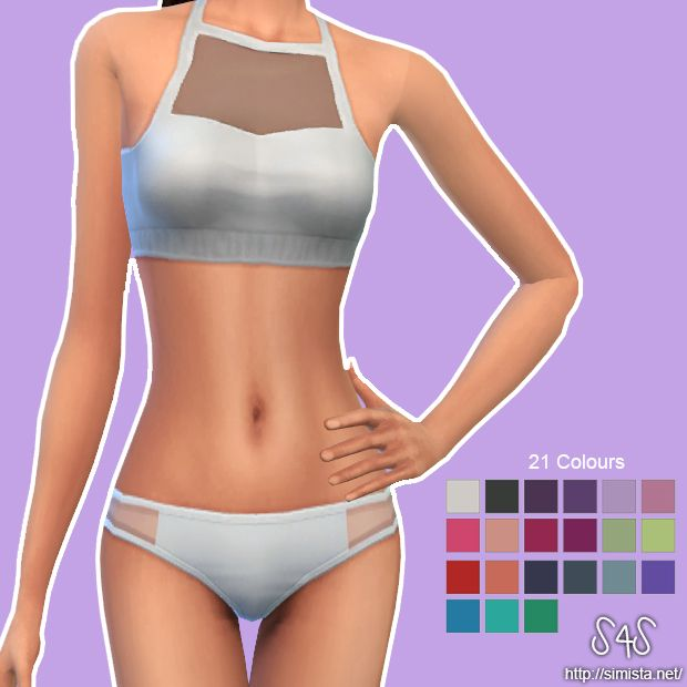 Alyssa Bikini Set | Simista A little Sims 4 Site | Playa