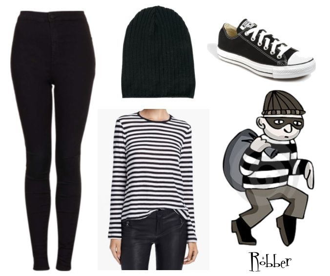 Halloween Costumes from your Closet:  Robber [www.highwaistedblog.com]