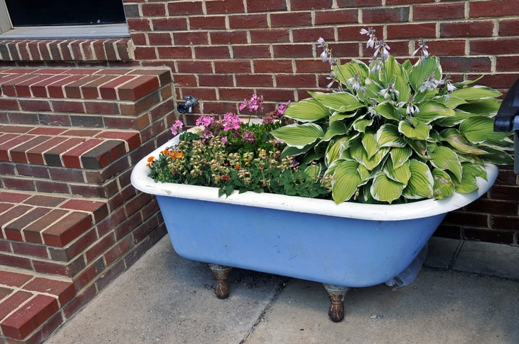 the 112 best images about 2 old bath tub in garden on pinterest gardens container gardening. Black Bedroom Furniture Sets. Home Design Ideas