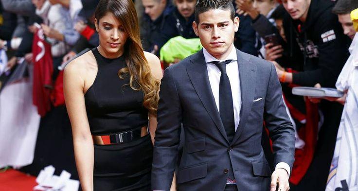 James Rodriguez e sua mulher, Daniela Ospina Foto: RUBEN SPRICH / REUTERS