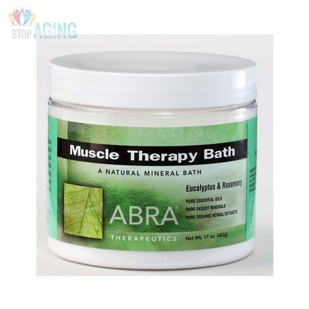Abra Therapeutics Muscle Therapy Bath Eucalyptus & Rosemary -- 17 oz by Abra Therapeutics. Save 34 Off!. $9.19. Sore muscles, aches and pains are the most common complaints of physical discomfort. Abra Therapeutics. Sore muscles, aches and pains are the most common complaints of physical discomfort. Exercise, tension, stress, overexertion and inactivity all contribute to body distress. Backaches, minor strains and sprains from sports, and morning stiffness will benefit from Muscle Ther...