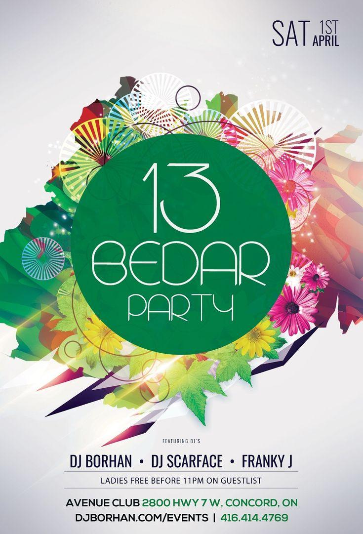 Annual Iranian Sidah Bedar party at Avenue Club with DJ Borhan, Scarface, Franky J on April 1st, 2017.