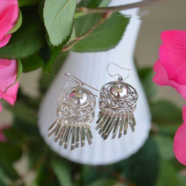 Sterling silver earrings. Handmade by Martirosian Jewelry.