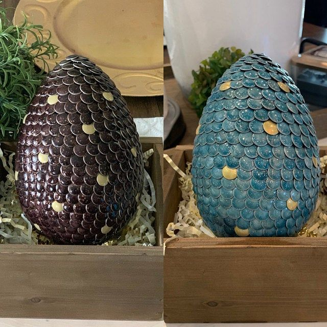 Gender Reveal Dragon Or Dino Egg Magical Color Changing Midnight