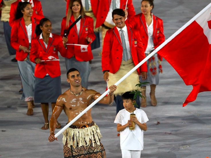 The star of the Olympics opening ceremony was the shirtless oily Tongan flagbearer who raised over $6000 to train for the games