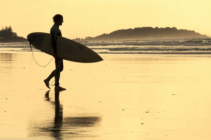 #surfing #surf #beach #sunset ~ Omanu beach, Bay of Plenty