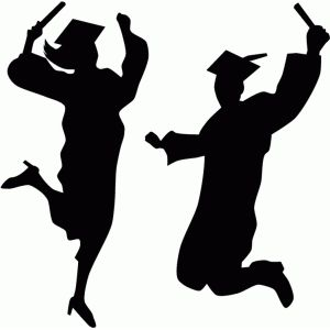 graduation students silhouette - Google Search