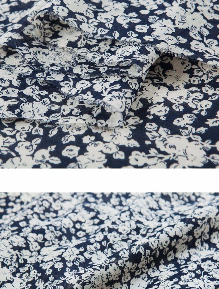 Элегантный шелковый смеси хлопка, цветочные шелк, свежий стиль, сельской местности, шить на верхней, рубашка, юбка, платье, ремесла по двору купить на AliExpress