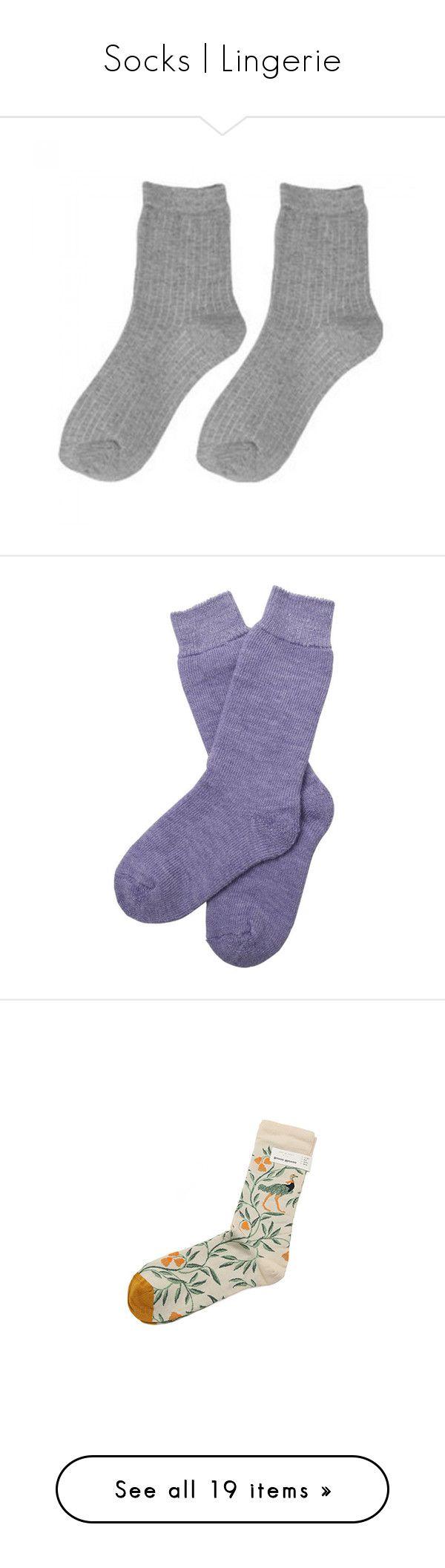 """Socks | Lingerie"" by jar-of-hearts-xx ❤ liked on Polyvore featuring intimates, hosiery, socks, accessories - socks, clothing - socks, fillers, accessories, terry socks, purple socks and barbour"