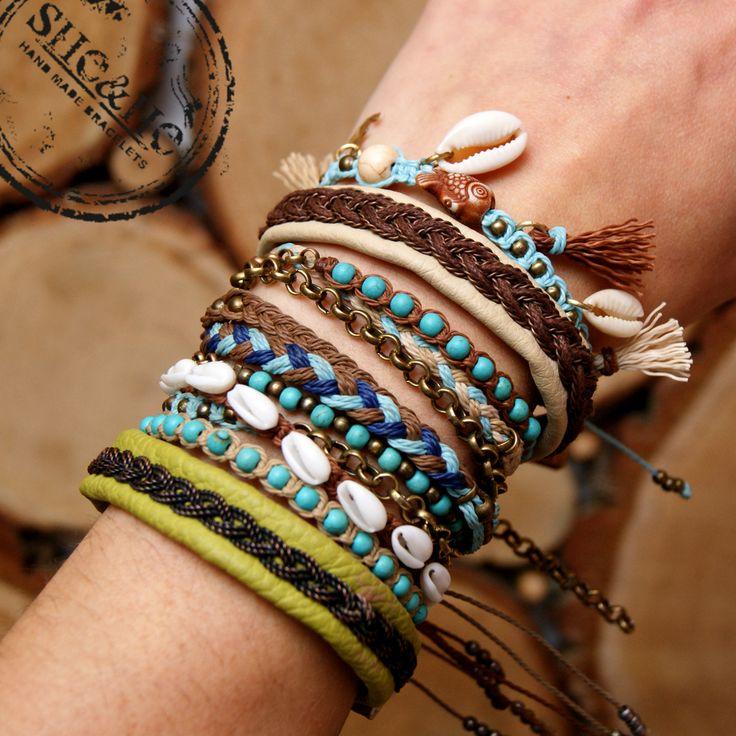 bransoletki makrama, bracelets, macrame, makrama, braid bracelet, seashell bracelet, beach bracelet, boho style, sami bracelet, wire wrapped, copper bracelet