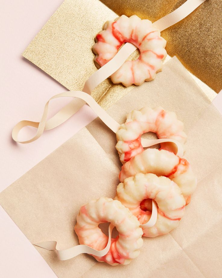 Peppermint-Spritz Cookies Holiday Recipes   Martha Stewart Living — Peppermint extract gives these wreath cookies their fresh flavor.