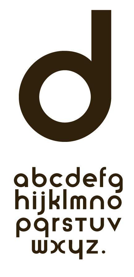 """Herbert Bayer, um dos alunos da Bauhaus, desenvolveu um alfabeto próprio para a escola. A tipografia da Bauhaus é arredondada e sem ornamentos. Segundo ele """"a tipização dos elementos da letra, tendo por base o quadrado, a circunferência e o triângulo reduz o consumo de material tipográfico."""""""