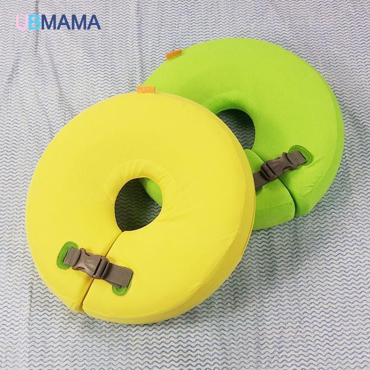 Hohe qualität sicherheit baby müssen nicht aufblasbare floating grüne ring um den hals runde schwimmring spielzeug baby schwimmbad
