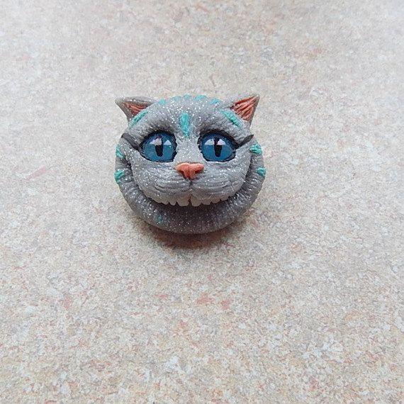 Alice in wonderland cheshire cat brooch cheshire от ViaLatteaArt