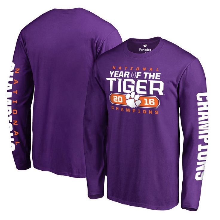Clemson Tigers Fanatics Branded College Football Playoff 2016 National Champions Play Action Long Sleeve T-Shirt - Heather Purple