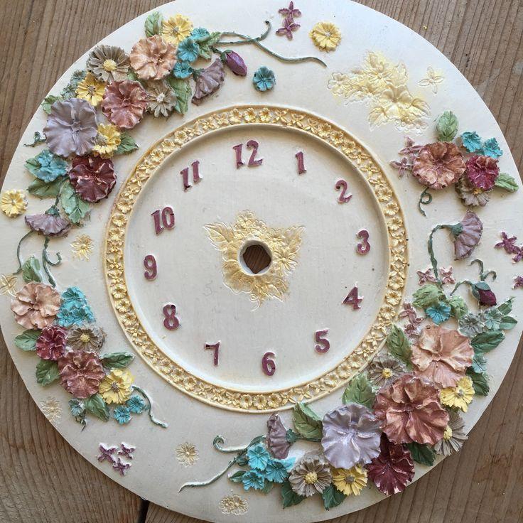 Çiçekli polyester saat