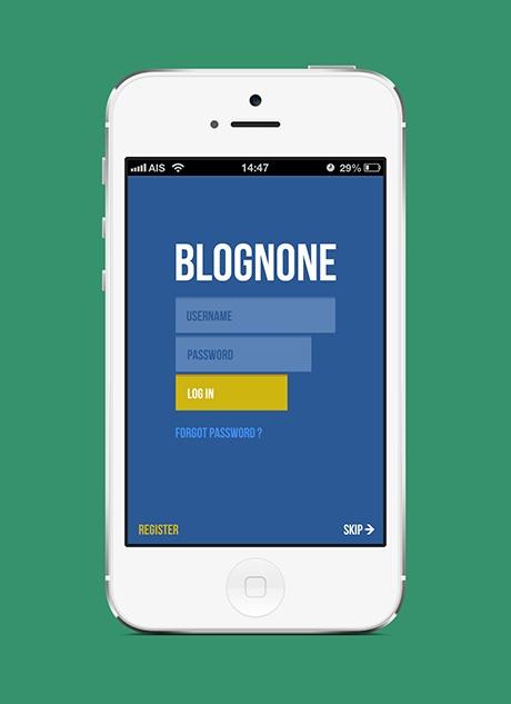 Blognone iPhone app by idmaximum , via Behance