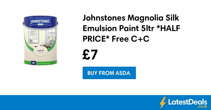 Johnstones Magnolia Silk Emulsion Paint 5ltr *HALF PRICE* Free C+C, £7 at ASDA