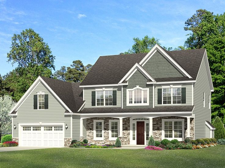ePlans Colonial House Plan – Elegant Three Bedroom Colonial – 2329 Square Feet and 3 Bedrooms from ePlans – House Plan Code HWEPL77055