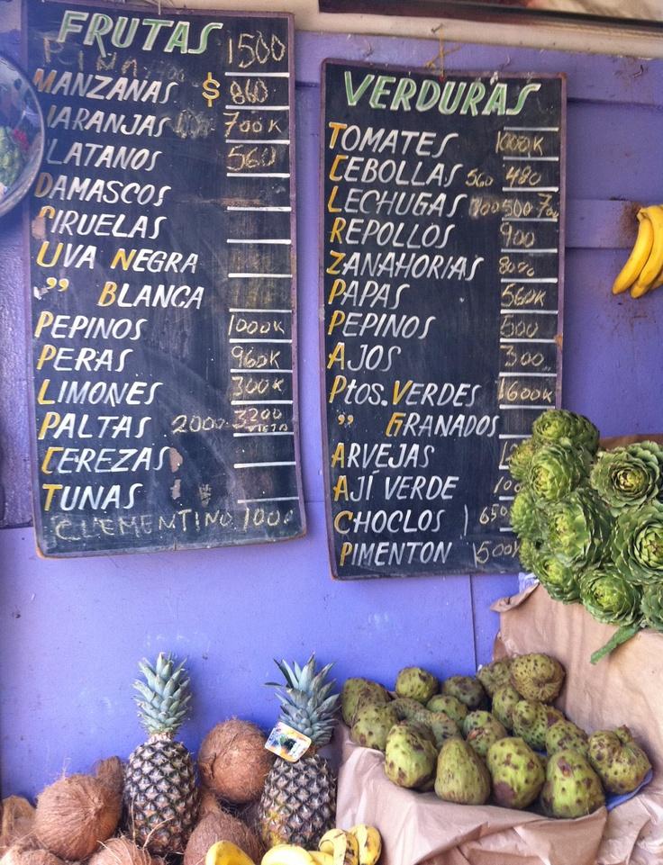 Fruit & veg in Santiago, Chile.