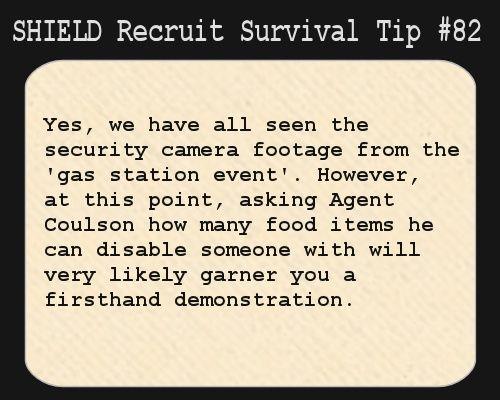 S.H.I.E.L.D. Recruit Survival Tip #82