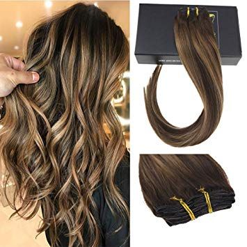 Sunny Double Weft Clip in Hair Extensions Human Ha…