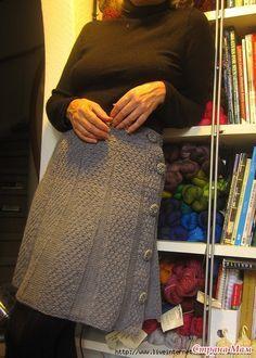 Расклешенная юбка спицами. Вяжем вместе! - Вяжем вместе он-лайн - Страна Мам