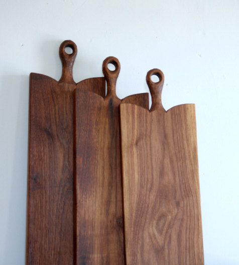 Walnut Rustic Serving Board Charcuterie Board by CattailsWoodwork