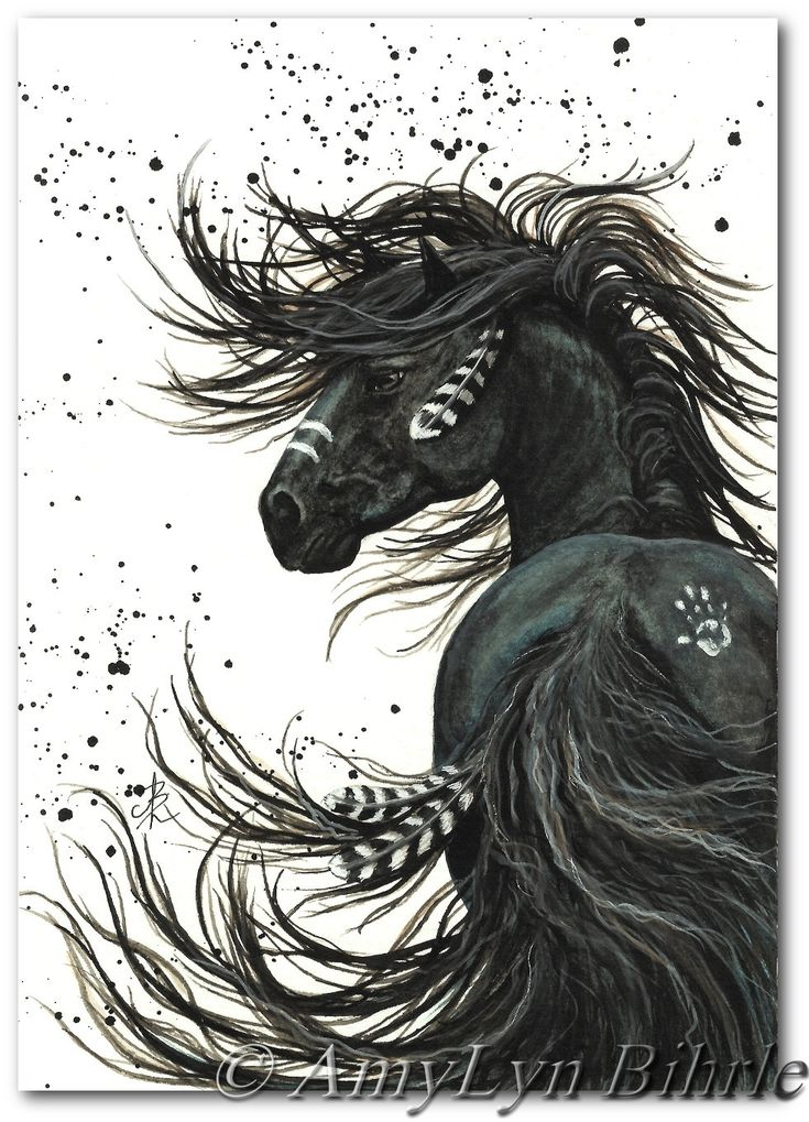 Majestic Horses Black Stallion Spirit Horse by AmyLynBihrle