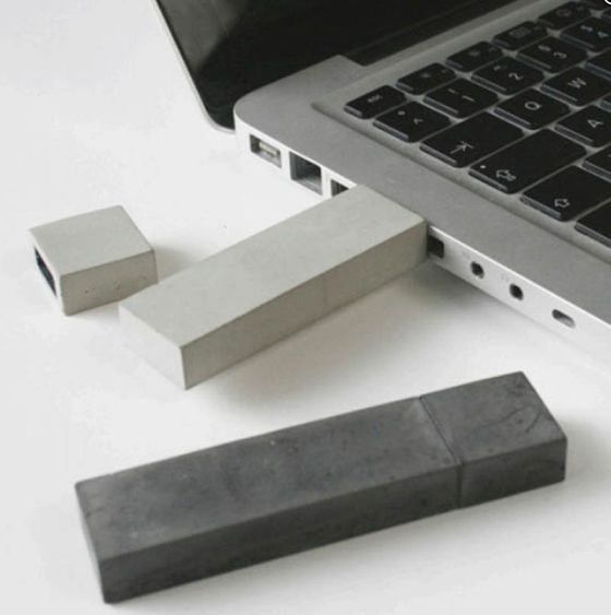 concrete USB drive  usbéton is a contemporary fossil; it contains precious information from our time. like an architectural building, a usb stick is about space and storage capacity. like an architectural building, usbéton is made out of concrete.