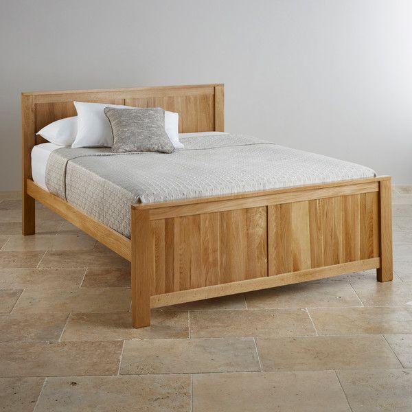 Oakdale Natural Solid Oak 5ft King Size Bed In 2020 Solid Oak Beds Oak Beds Oak King Size Bed