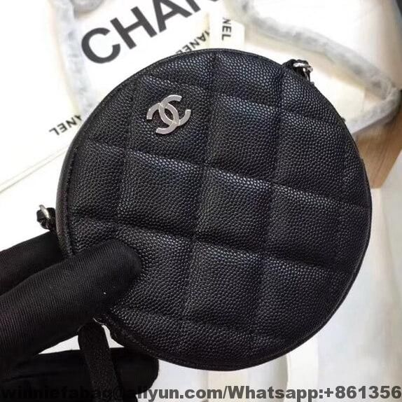 cc73ad77d9d0 Chanel Classic Round Clutch with Chain A70657 2018