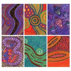Aboriginal Resist Drawings - Project #129 - United Art and Education