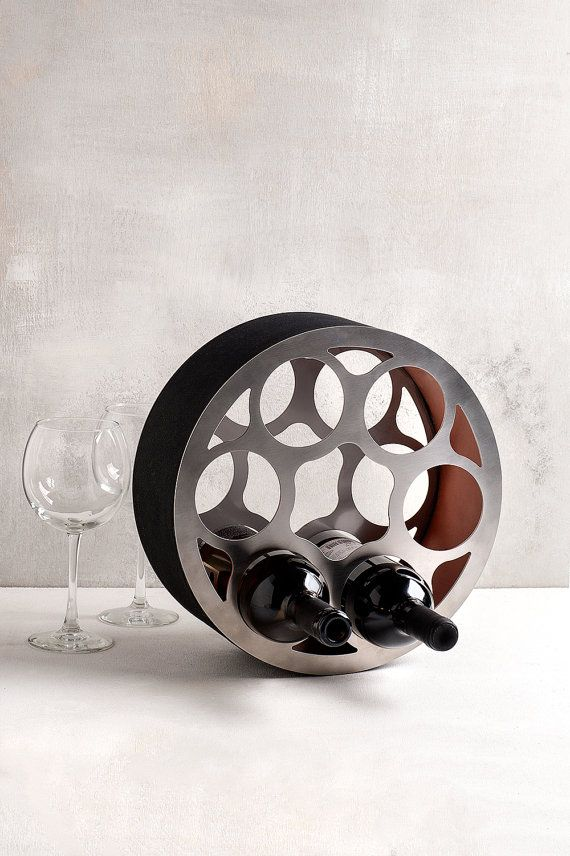 Industrial wine rack Modern wine rack by SturlesiDesign on Etsy