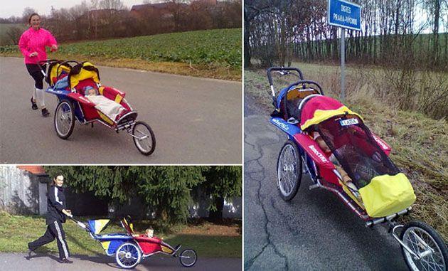 Laufen mit zwei Kinder auf einmal! Kinderwagen für zwei Kinder, Graz, Wien, Österreich, probefahrt, Benecykl