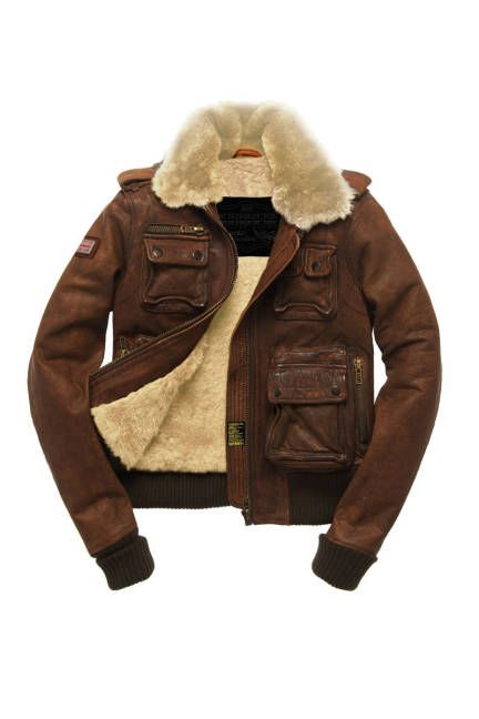 Designer Coats for Women 2012 - Trendy Womens Coats - ELLE-Superdry USA Heritage Landing Jacket, $600; superdry.com