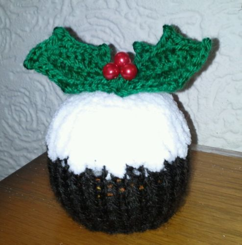 Free Knitting Pattern Xmas Pudding : Hand knit terrys chocolate orange cover christmas pudding ...