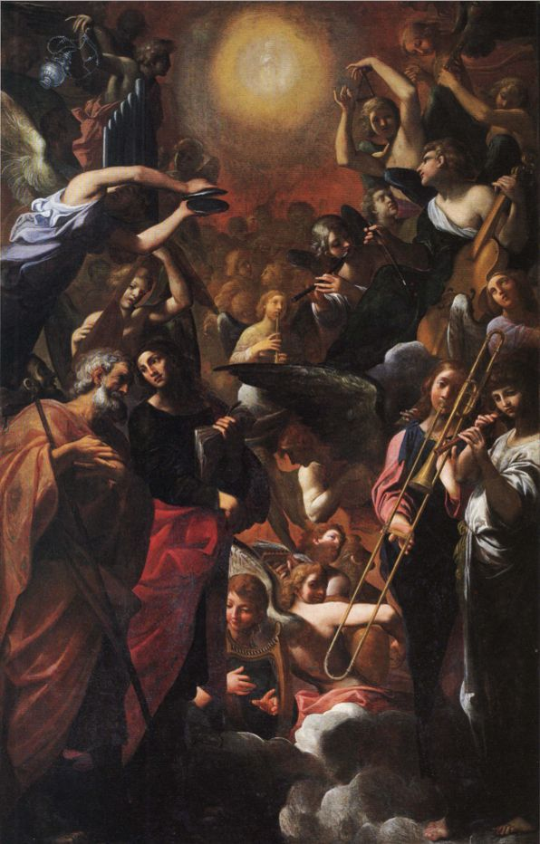 1616—Bologna, Italy: Ludovico Carracci's Paradise, an altarpiece painting located in the Church of San Paolo Maggiore