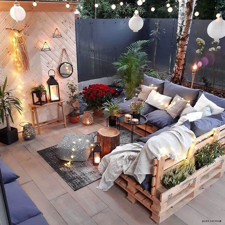 Meubles De Patio Confortables In 2020 Palette Furniture Pallet Furniture Outdoor Outdoor Living Room