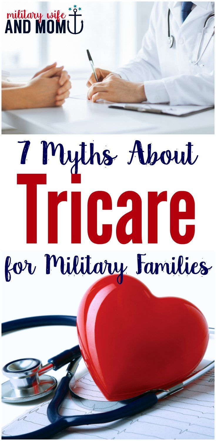 Learn several myths about Tricare - insurance for military families. Benefits for military spouses and families. via @lauren9098
