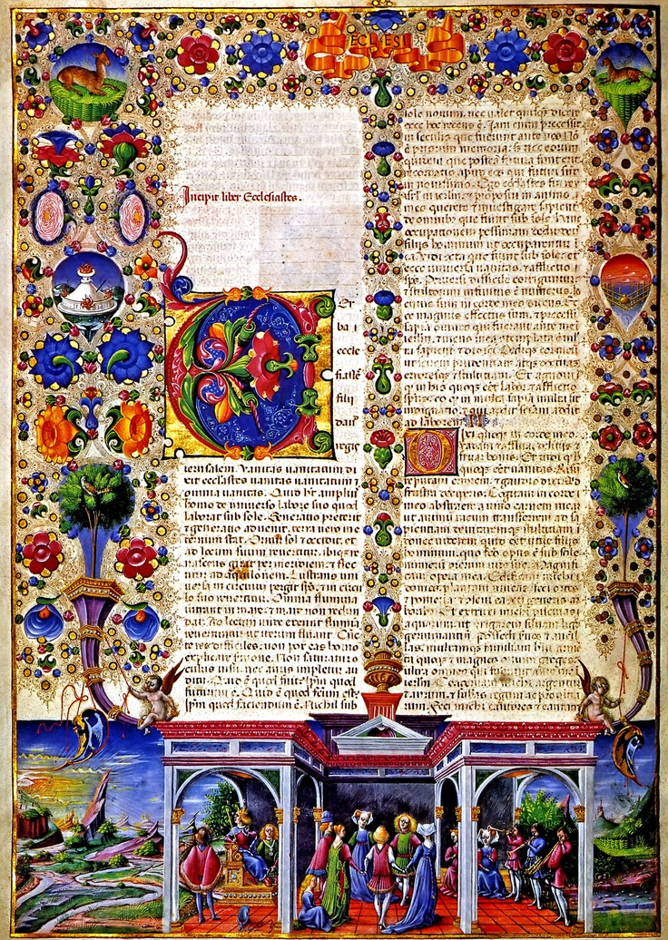 If books still looked this beautiful, I'd bet people would take them more seriously.  Illuminated Manuscript Bible, high resolution